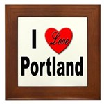 I Love Portland Framed Tile