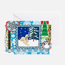 Scrapbook Afghan Hound Christmas Greeting Card