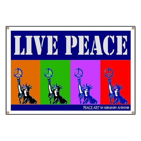 """""""PEACE & LIBERTY COLORS 2"""" Banner"""
