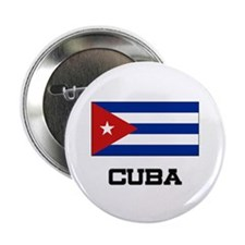 """Cuba Flag 2.25"""" Button"""