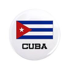 """Cuba Flag 3.5"""" Button"""