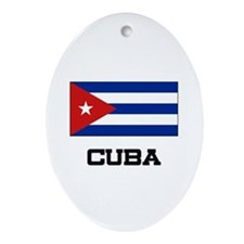 Cuba Flag Oval Ornament