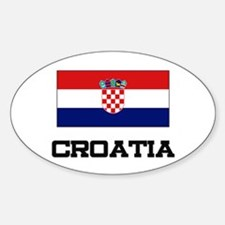 Croatia Flag Oval Decal