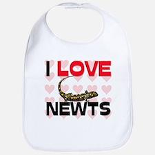 I Love Newts Bib