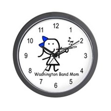 Flute - Washington Band Mom Wall Clock