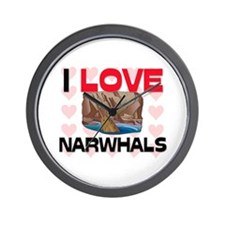 I Love Narwhals Wall Clock