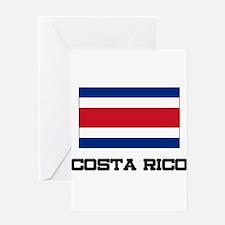 Costa Rico Flag Greeting Card