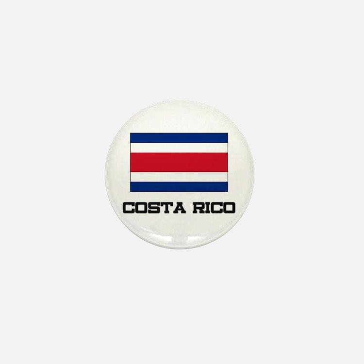 Costa Rico Flag Mini Button
