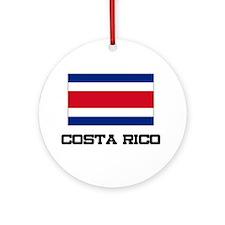 Costa Rico Flag Ornament (Round)