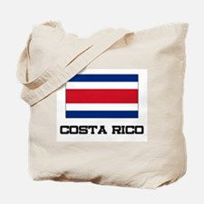 Costa Rico Flag Tote Bag