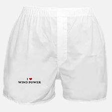 I Love WIND POWER Boxer Shorts