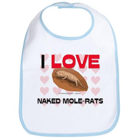 I Love Naked Mole-Rats Bib