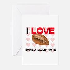 I Love Naked Mole-Rats Greeting Cards (Pk of 10)