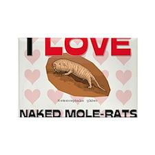 I Love Naked Mole-Rats Rectangle Magnet