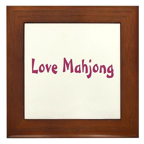 Love Mahjong Framed Tile