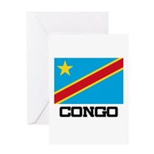 Congo Flag Greeting Card