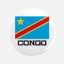 """Congo Flag 3.5"""" Button"""