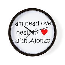 Funny I love alonzo Wall Clock
