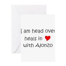 Funny I love alonzo Greeting Card