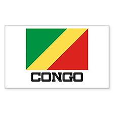 Congo Flag Rectangle Decal