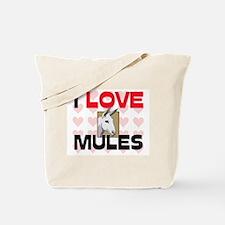 I Love Mules Tote Bag