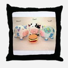 The Sad Cows Throw Pillow