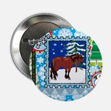 "Scrapbook Clydesdale Christmas 2.25"" Button (10 pa"