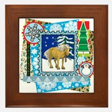 Scrapbook Belgian Christmas Framed Tile