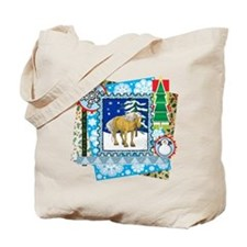 Scrapbook Belgian Christmas Tote Bag