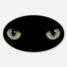 Cat Eyes Oval Decal