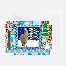 Scrapbook Alpaca Christmas Greeting Cards (Pk of 1