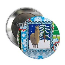 "Scrapbook Alpaca Christmas 2.25"" Button (100 pack)"