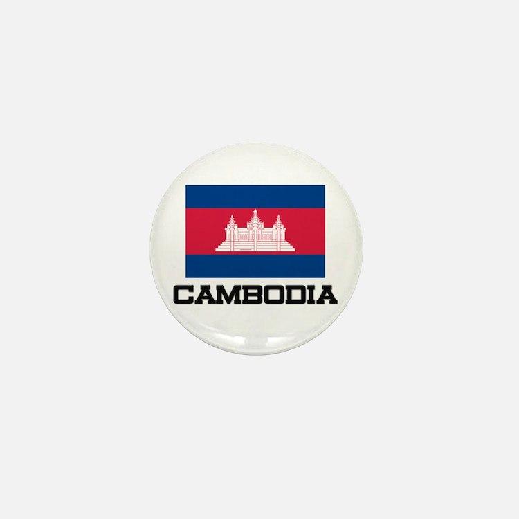 Cambodia Flag Mini Button