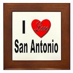 I Love San Antonio Framed Tile