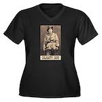 Calamity Jane Women's Plus Size V-Neck Dark T-Shir