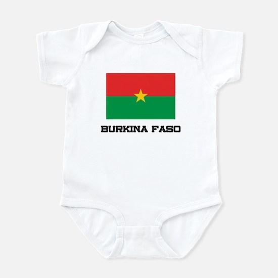 Burkina Faso Flag Infant Bodysuit