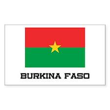 Burkina Faso Flag Rectangle Decal