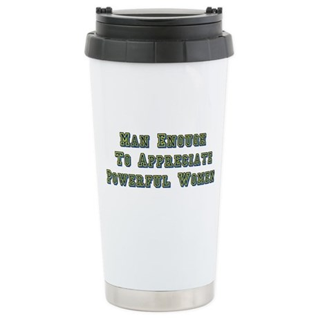 Man Enough Stainless Steel Travel Mug