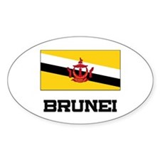Brunei Flag Oval Decal