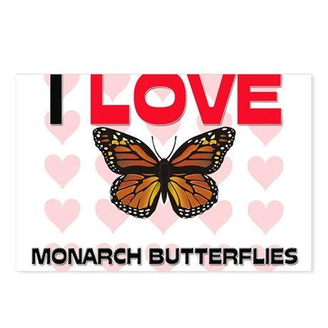 I Love Monarch Butterflies Postcards (Package of 8