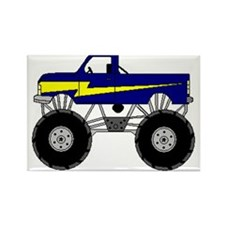 Monster Truck Rectangle Magnet