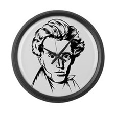 Strk3 Soren Kierkegaard Large Wall Clock