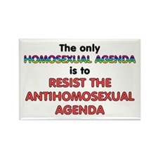 Real Homosexual Agenda Rectangle Magnet
