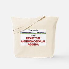 Real Homosexual Agenda Tote Bag