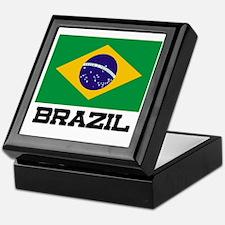 Brazil Flag Keepsake Box