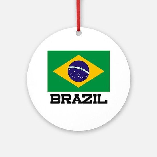 Brazil Flag Ornament (Round)