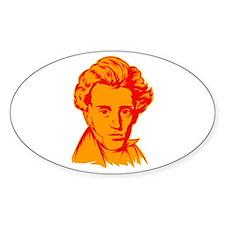 Strk3 Soren Kierkegaard Oval Decal