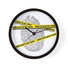 CRIME SCENE! Wall Clock