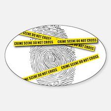 CRIME SCENE! Oval Decal