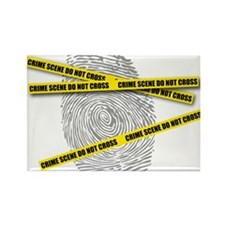 CRIME SCENE! Rectangle Magnet